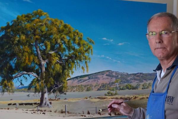 Geof Pearce painting - Bremerton Exhibition