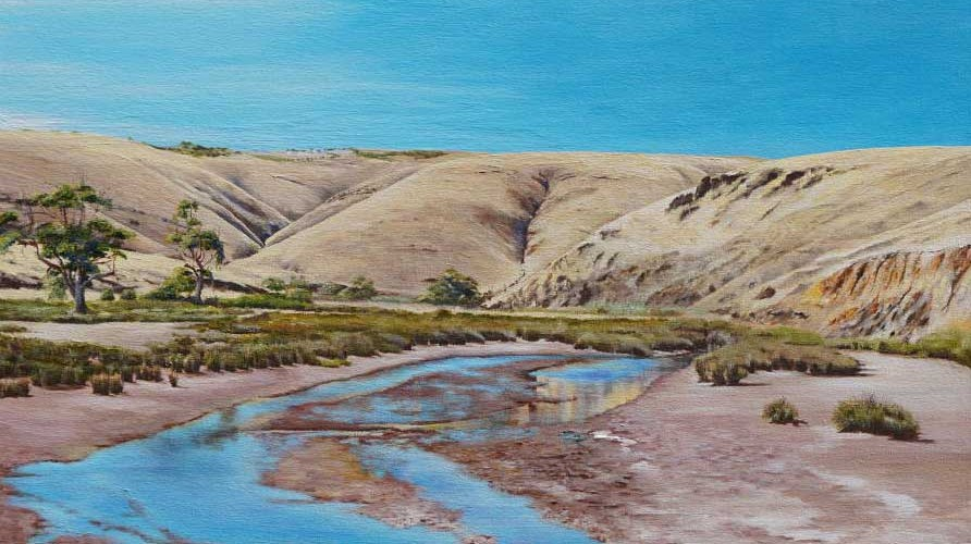 Re ections from Myponga River Bridge