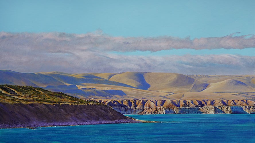 Maslins Beach Cliffs and Ochre Point from Seaford